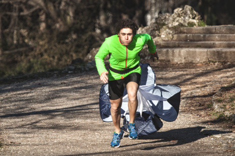 Corsa con paracadute di  resistenza